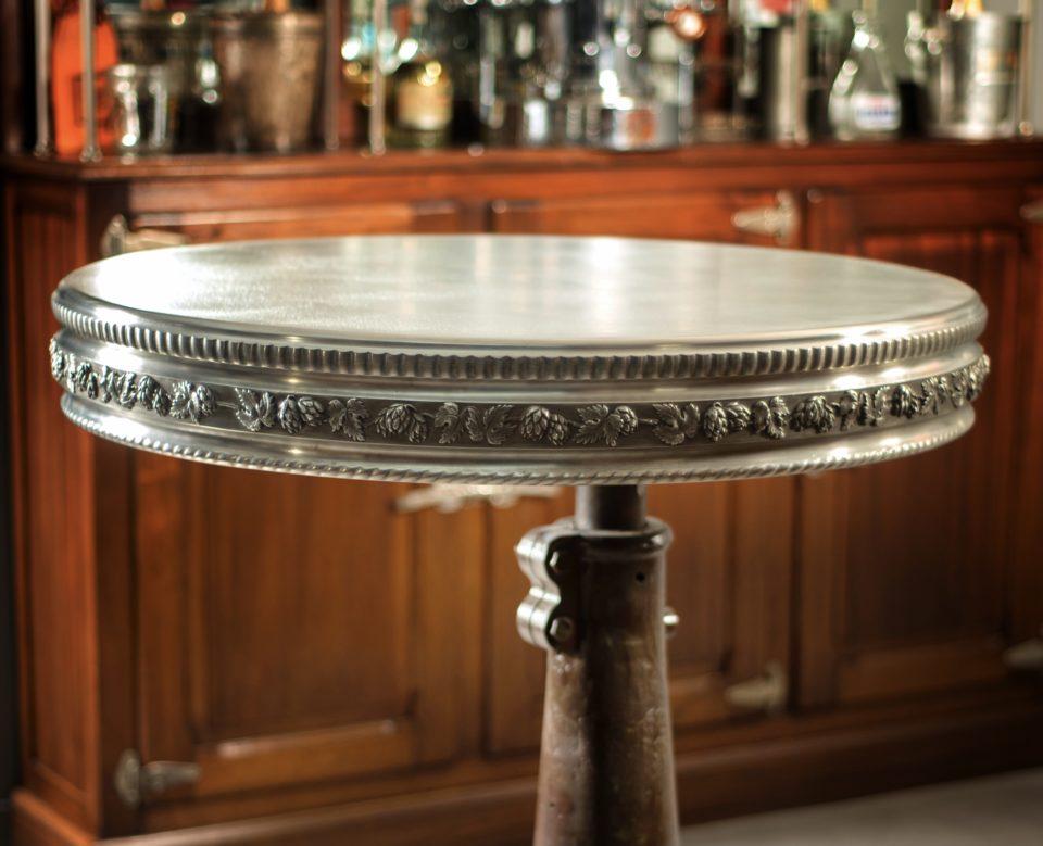 Table ronde feuille de houblon (2)