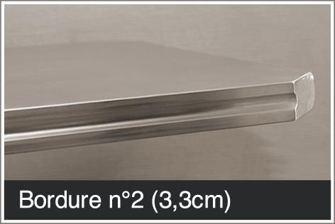 Bordure pour table en étain 3,3 cm