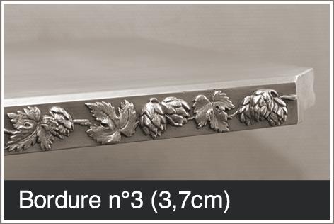 Bordure pour table en étain 3,7 cm