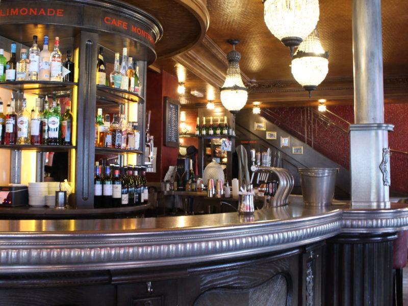 Vue de profil du bar
