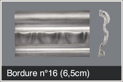 Bordure fine 6,5 cm pour comptoir en étain sur mesure