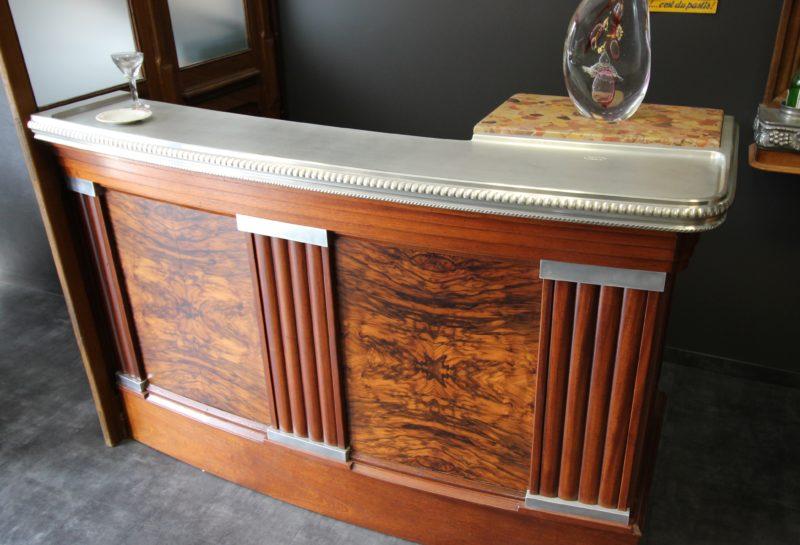 Comptoir bar en étain style art déco